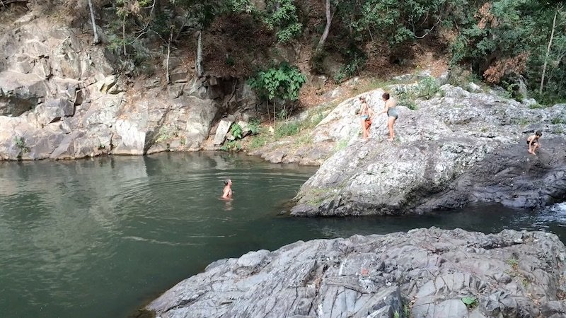 photo - currumbin rock pools jumping