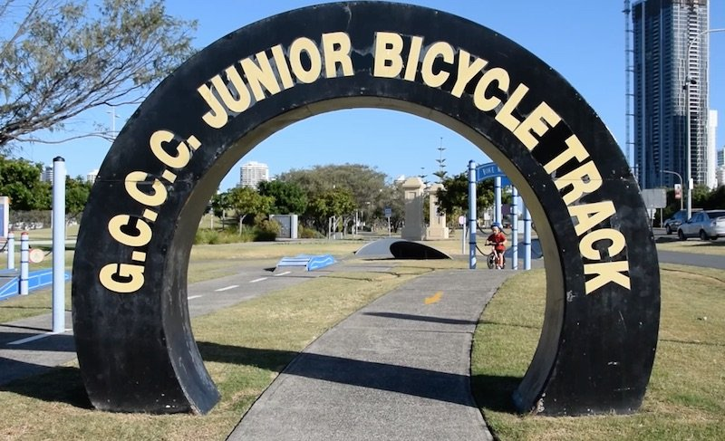 photo - gccc junior bicycle track sign