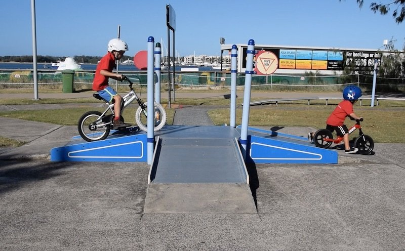 photo - kids bike tracks crossroads
