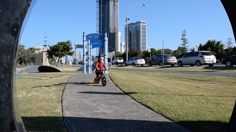 photo - kids bike tracks gold coast window