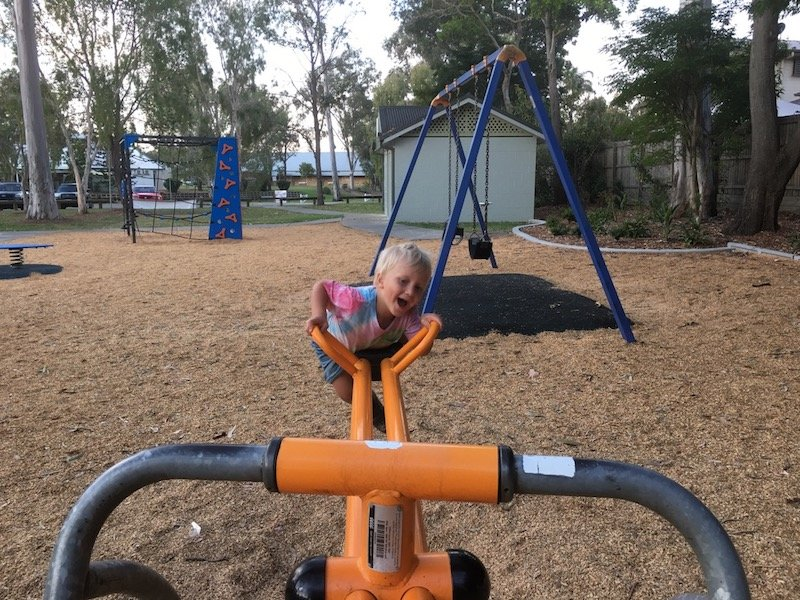 photo - lions park helensvale seesaw
