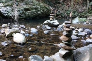 photo - mt cougal national park rock cairns