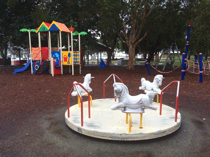 photo - paradise point playground pony carousel