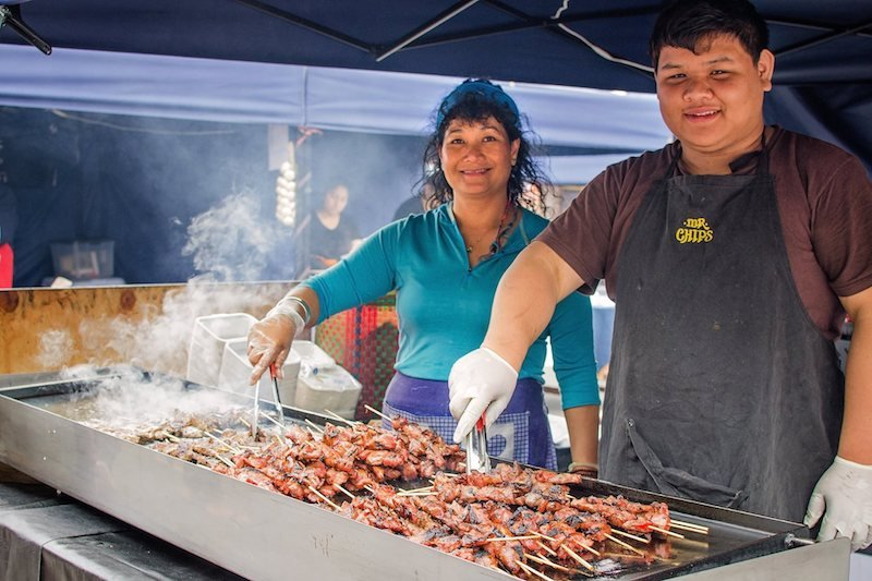 rotorua night markets skewers stall via fb