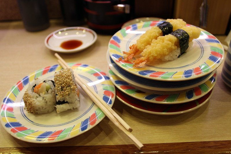 sushi train plates by bex walton