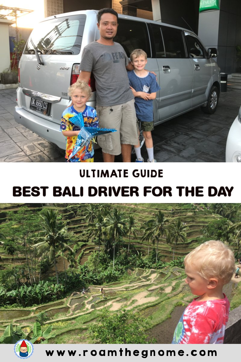PIN Best bali driver for the day