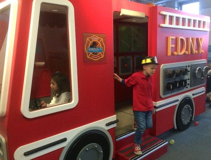 image - Childrens Museum of Manhattan fire truck