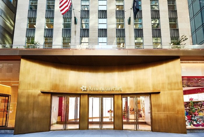 image - american girl cafe front entrance Rockefeller Center