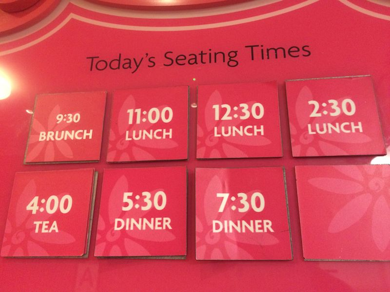 image - american girl cafe seating times