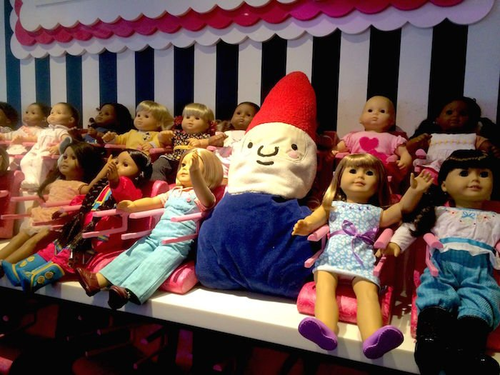 image - american girl cafe with Roam the Gnome