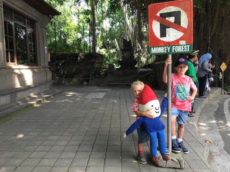 image - bali monkey forest ubud sign