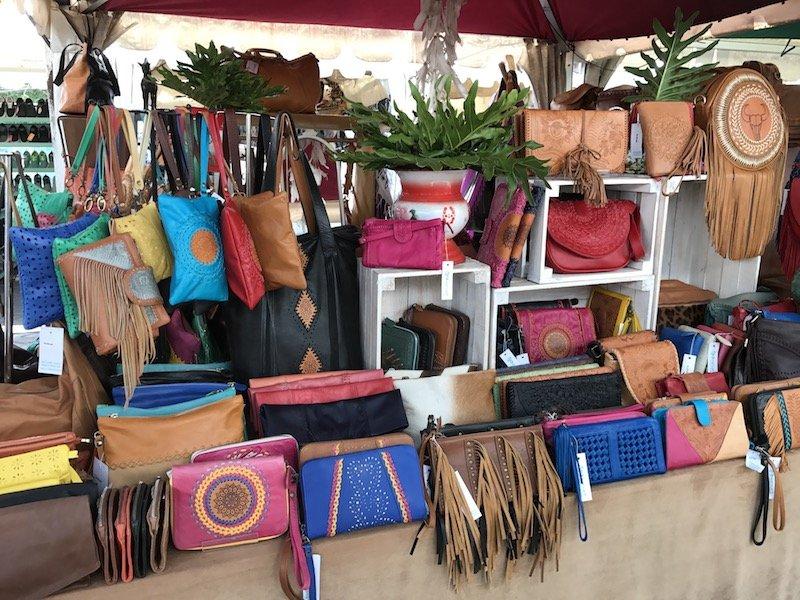 image - bali seminyak flea market leather bags
