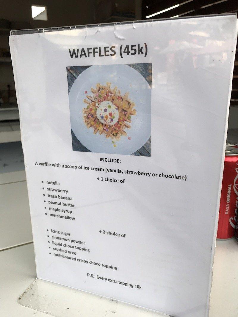 image - berawa kitchen canggu rainbow waffles price