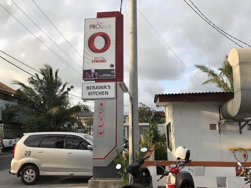 image - berawa kitchen canggu sign on road