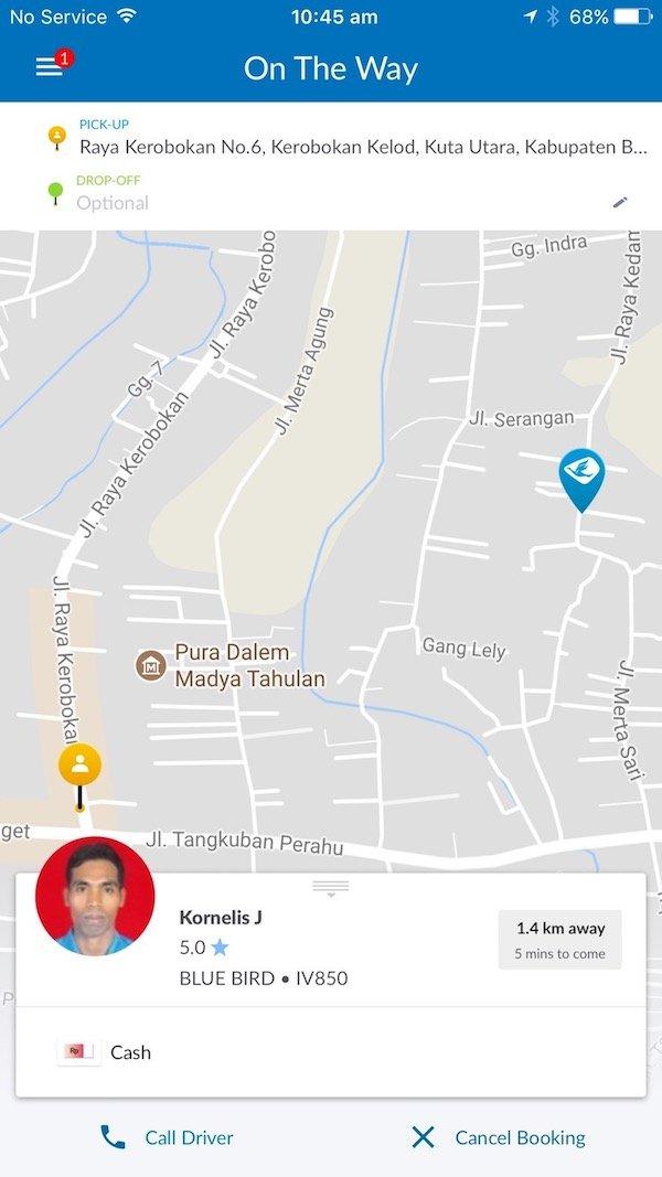 image - bluebird taxi bali app pic