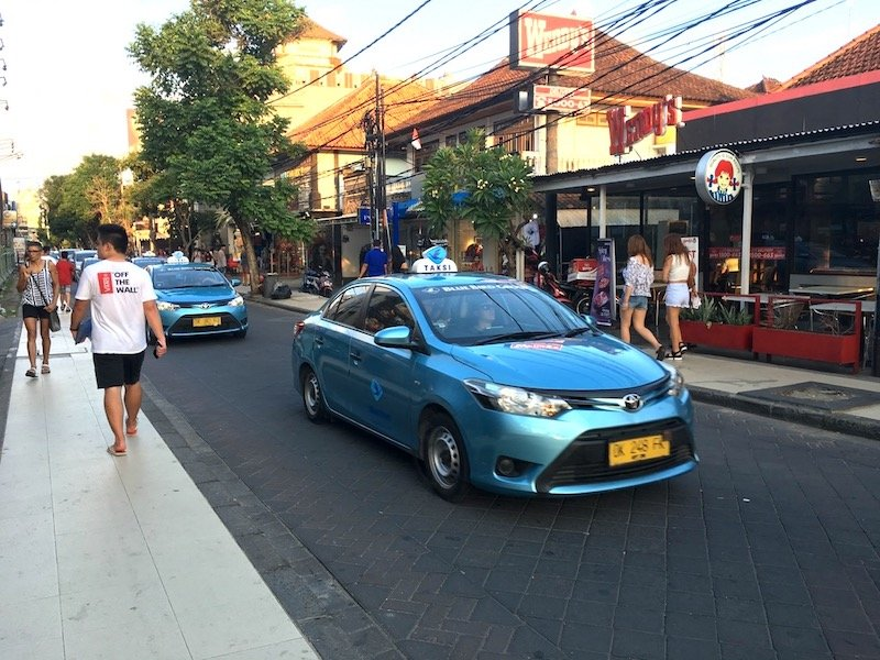 image - bluebird taxi bali car