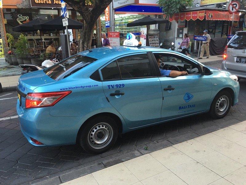image - bluebird taxi bali view of car