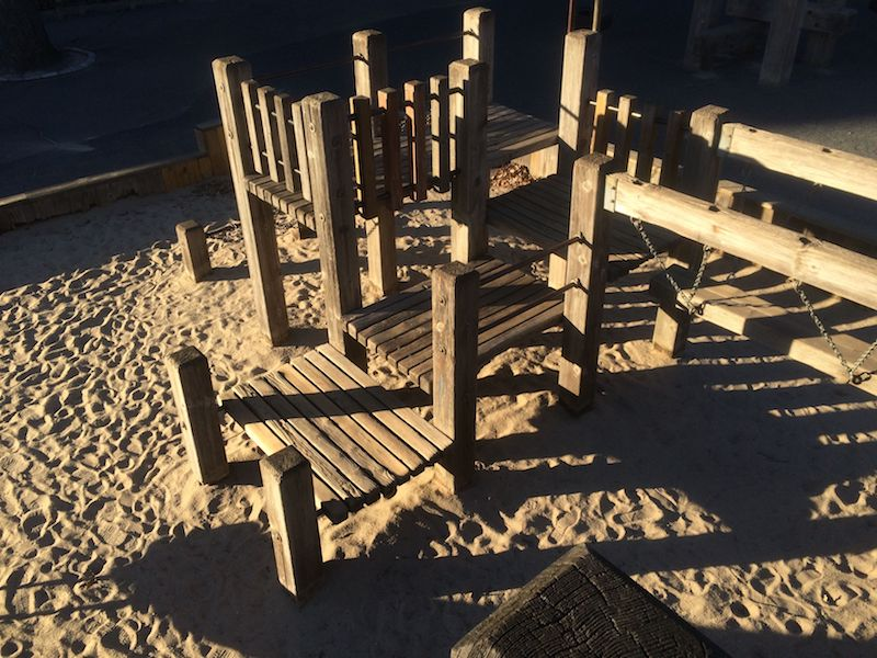 image - diana ross playground timber fort