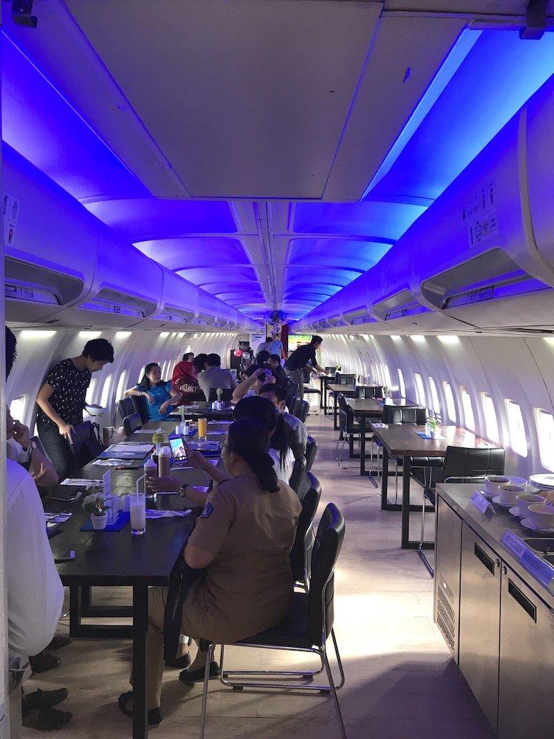 image - inside the plane restaurant at keramas aero park bali