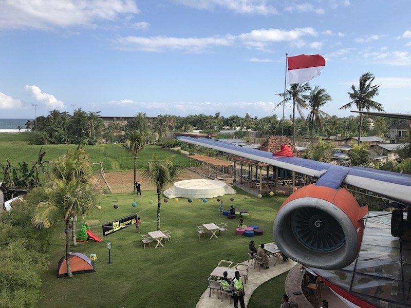 image - keramas aero park bali view from plane