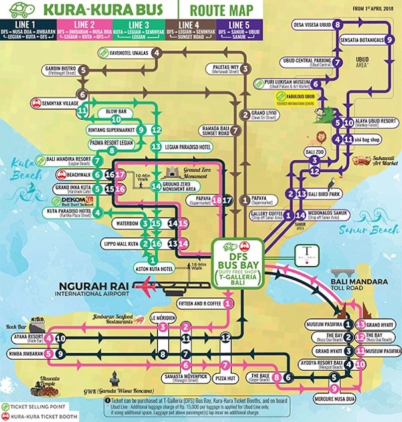 image - kura kura bus map