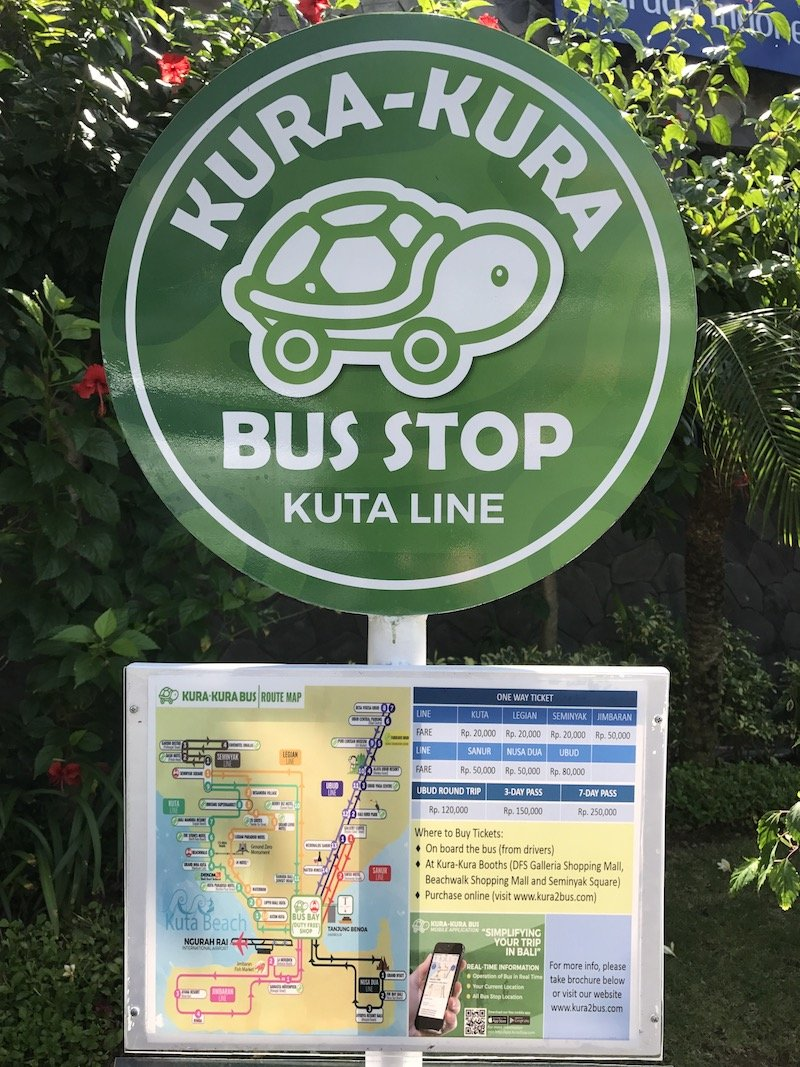 image - kura kura bus stop sign