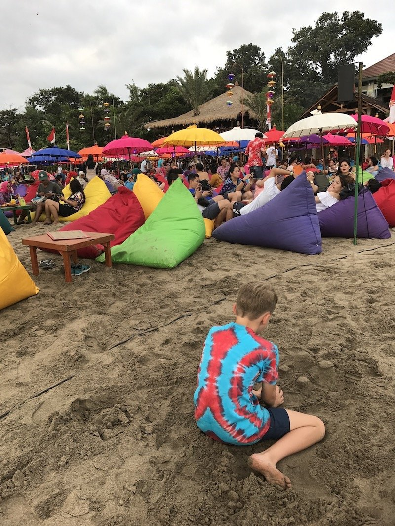 image - la plancha bali restaurant beach view