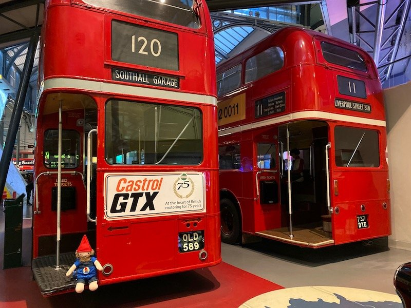 image - london transport museum covent garden red buses