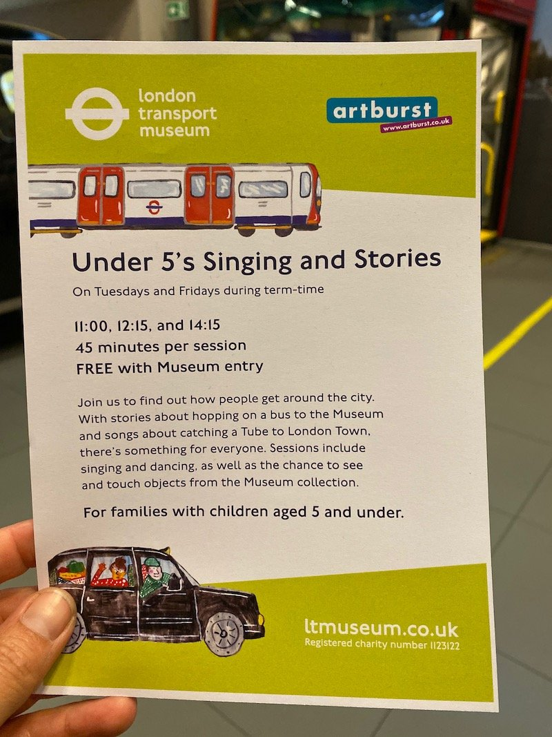 image - london transport museum events at covent garden