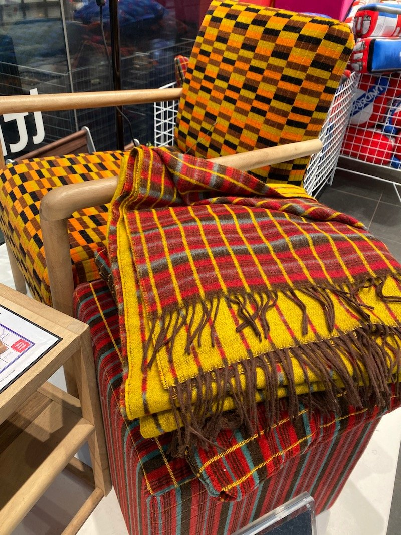 image - london transport museum shop moquette chairs and rugs
