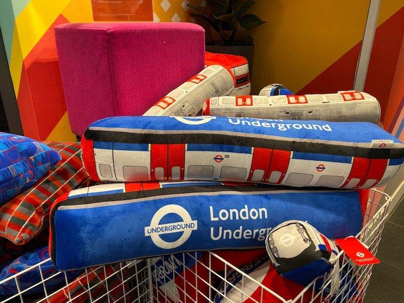 image - london transport museum shop pillows