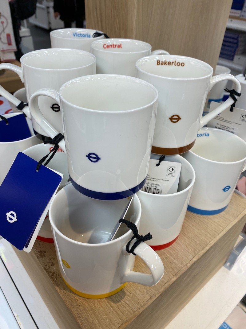 image - london transport museum shop roundel mugs