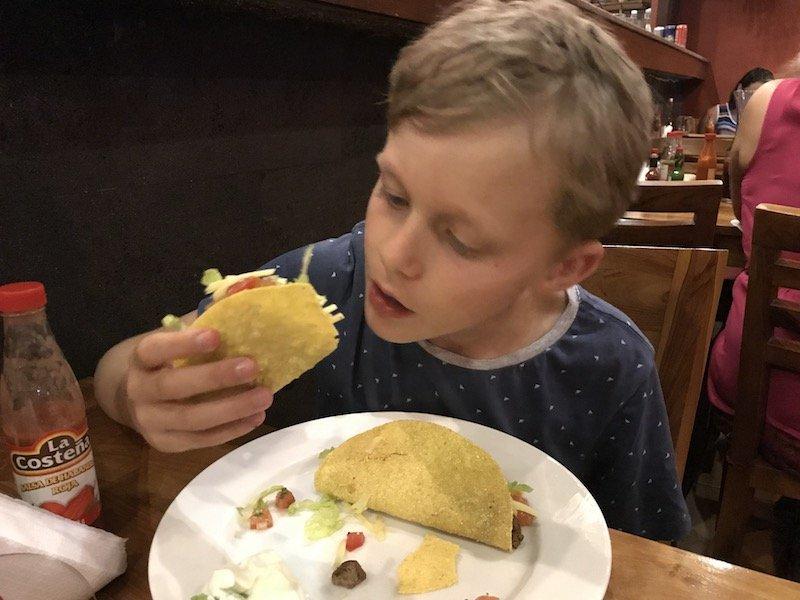 image - ned eating at taco casa mexican seminyak
