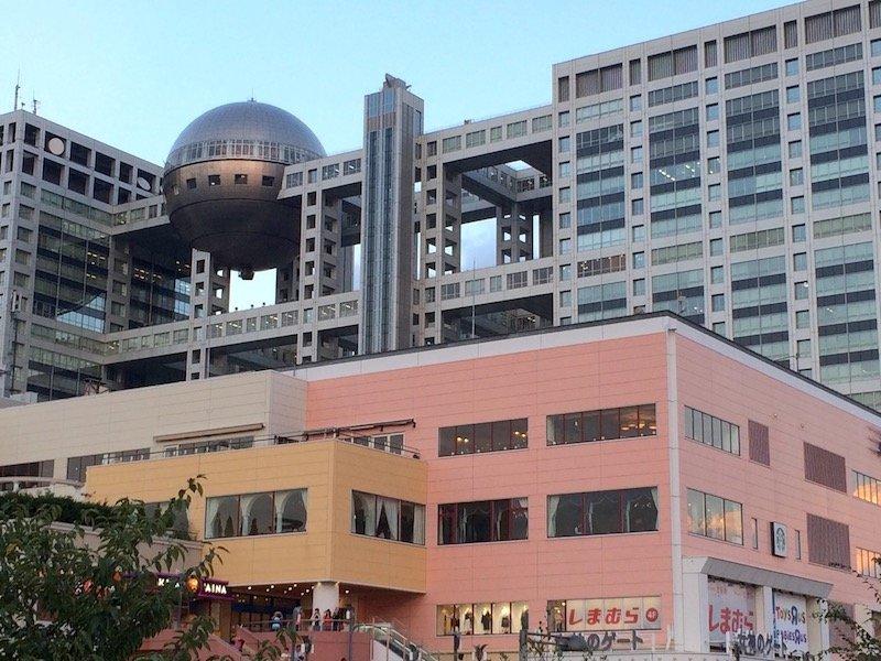 image - odaiba aqua city and fuji television 800
