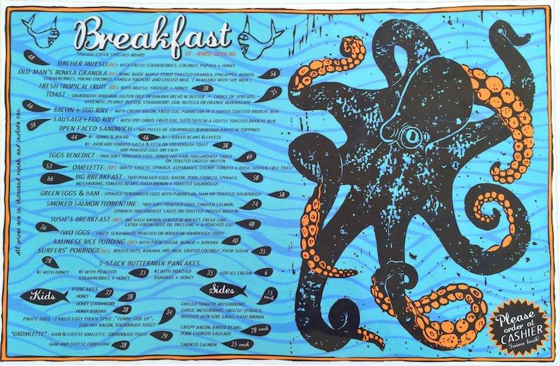 image - old mans breakfast menu bali