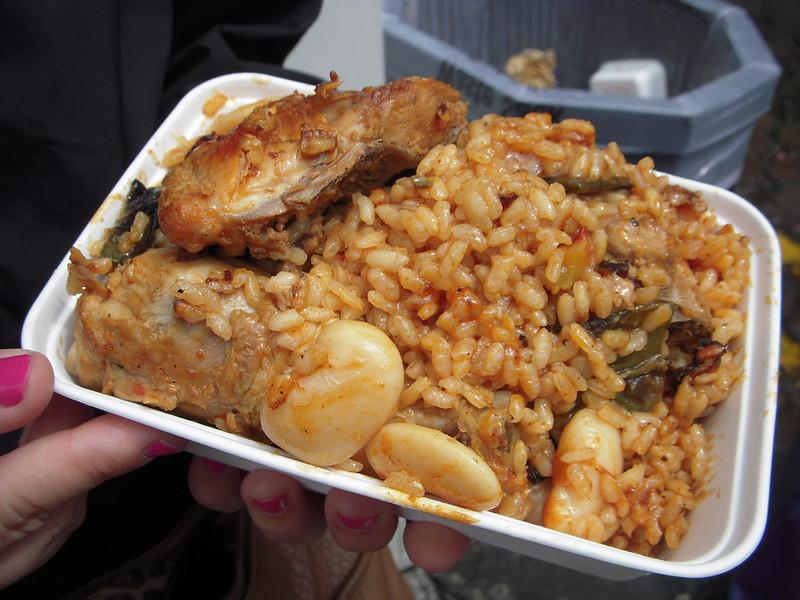 image - paella on portobello road market london by an mai