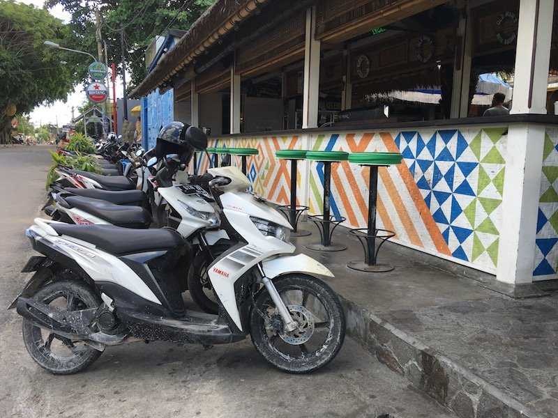 image - scooter parking at old mans bali