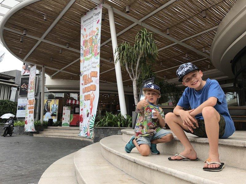 image - seminyak village mall bali with boys