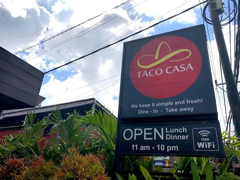 image - taco casa mexican seminyak signboard