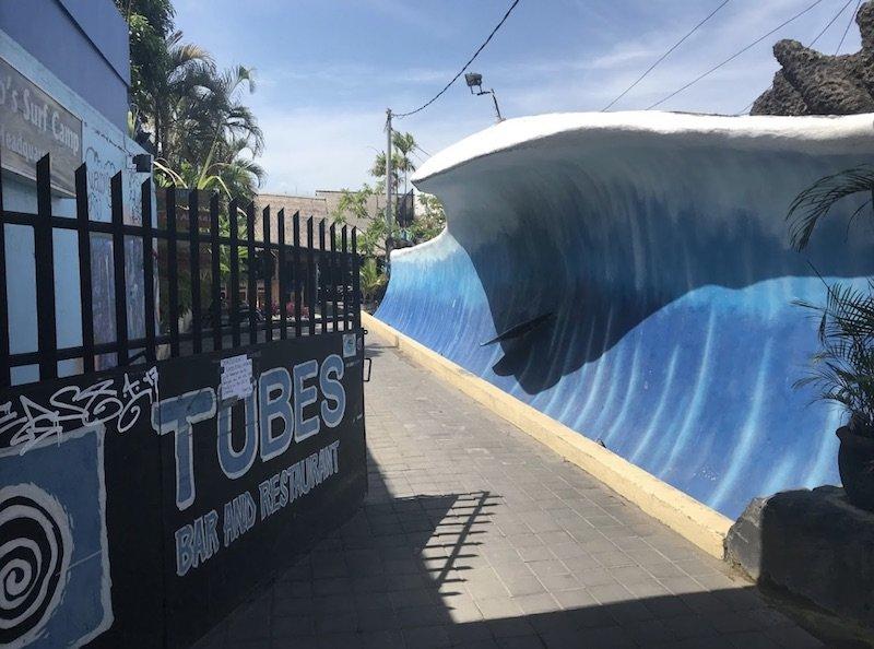 image - tubes restaurant entrance by Steve mavin