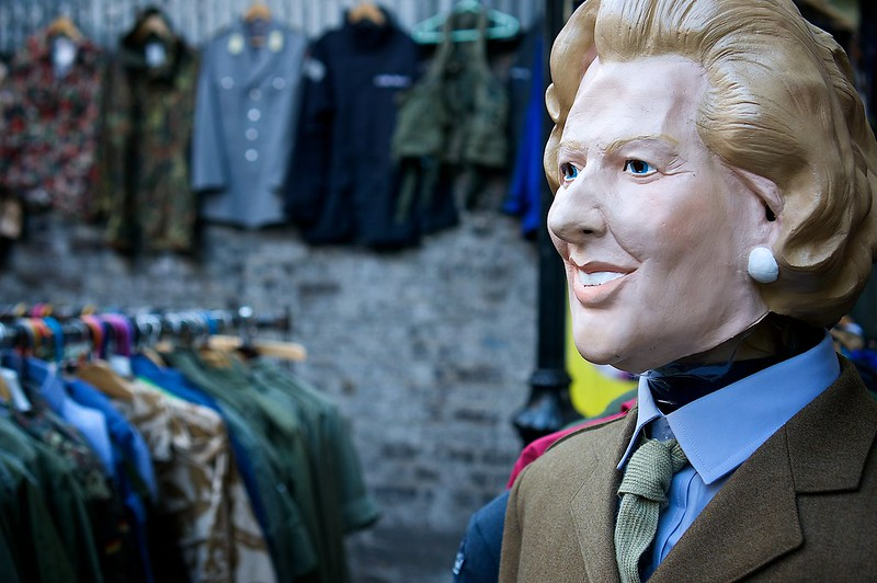 image - vintage fashion on portobello road market by paul hudson