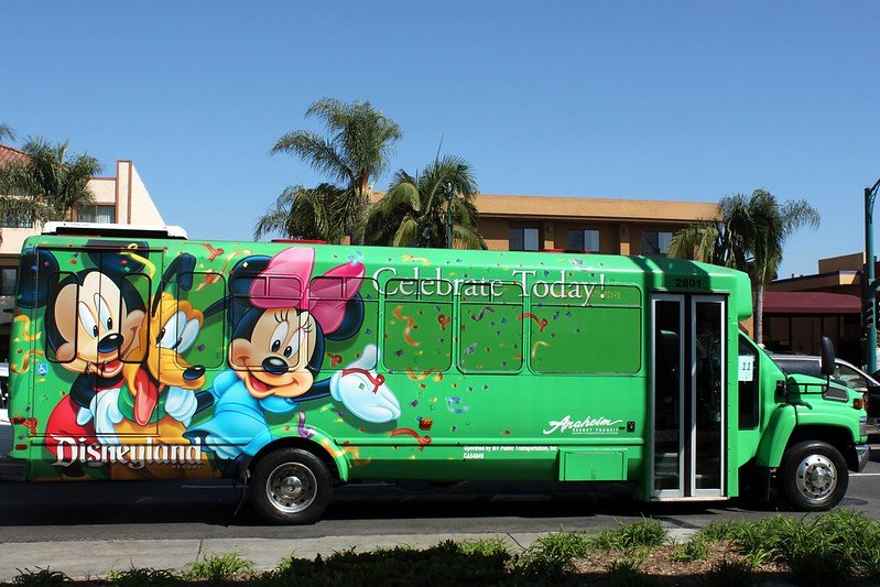 image - disney ART shuttle bus disneyland LA by prayitno