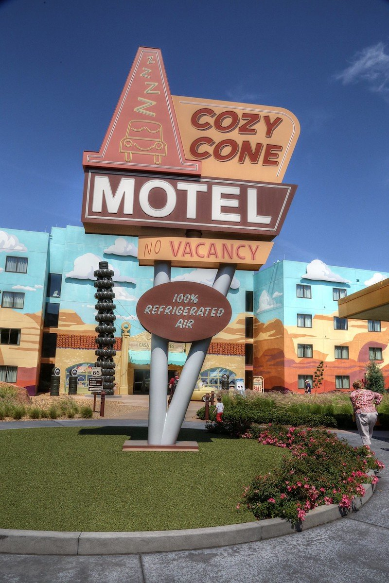 image - disney art of animation resort cozy cone motel sign
