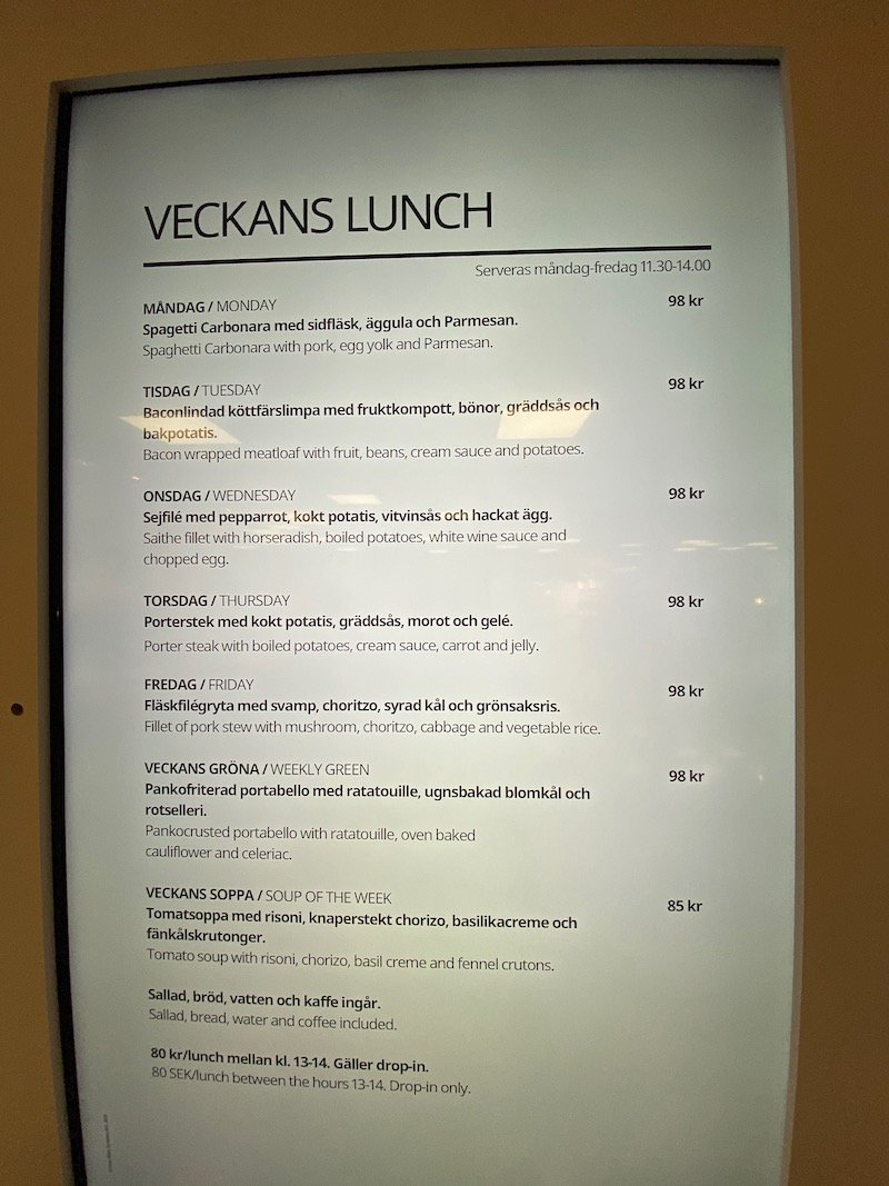 image - ikea hotel lunch menu