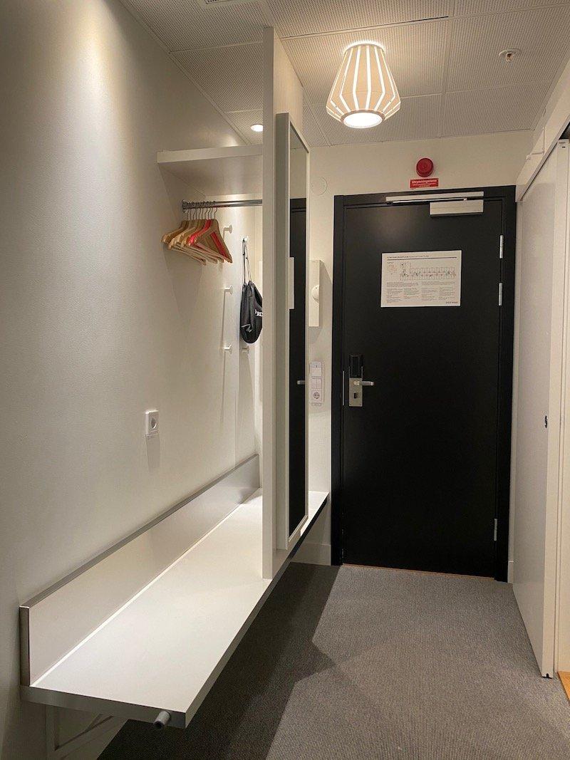 image - ikea hotel room coat rack and luggage storage