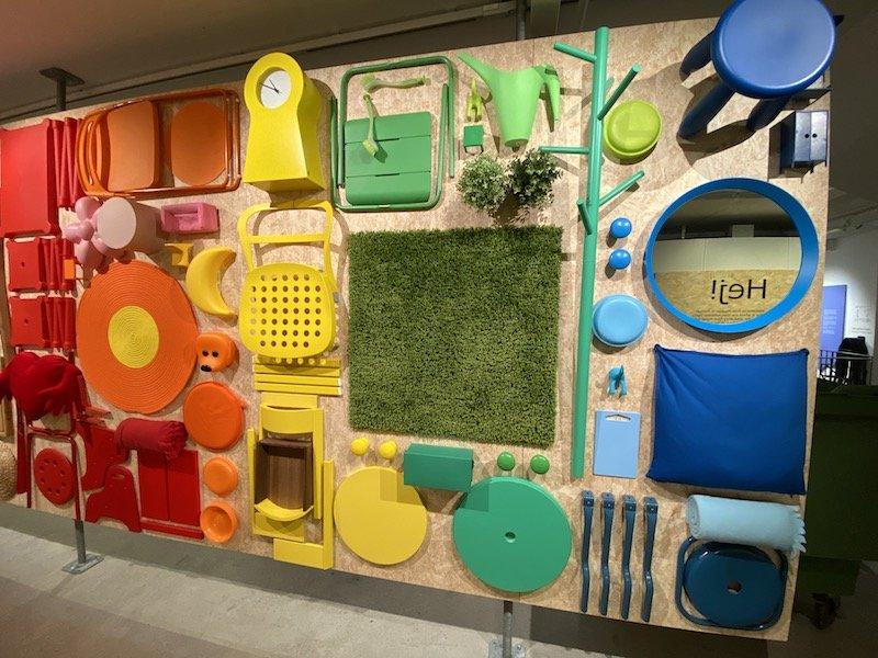 image - ikea museum colourful wall 800