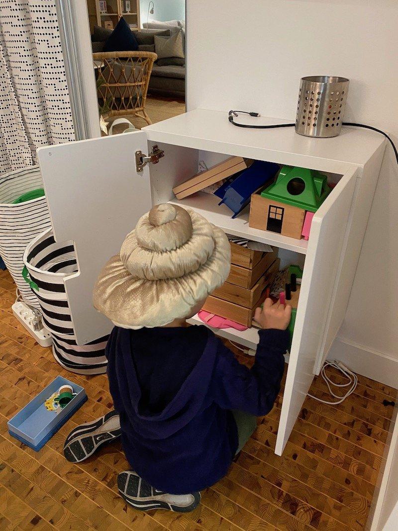 image - jack playing with ikea hotel toys