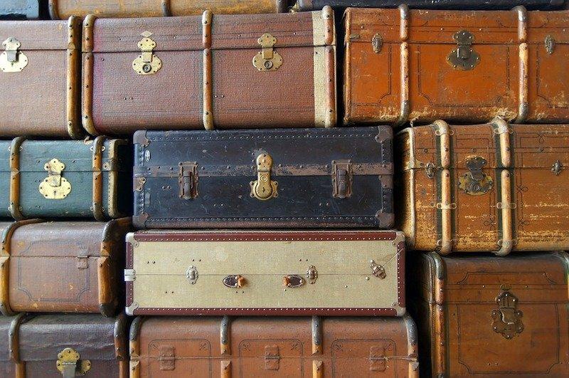 image - large retro suitcases