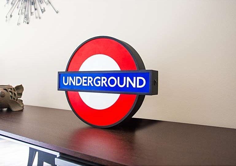 image - london underground lightbox from london transport museum shop
