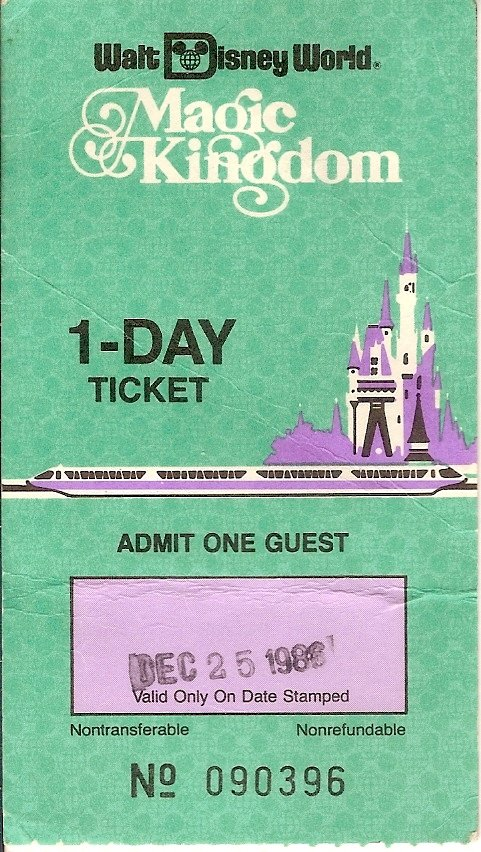 image - magic kingdom 1 day ticket disney world by joel